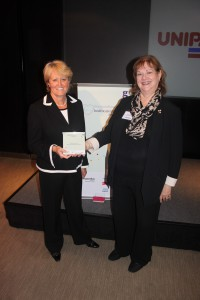 Prof Sue Hill and Prof Shelley Heard pick up the MSC Award